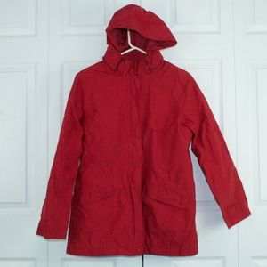 LL Bean Light Spring Jacket Red Coat Size L